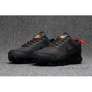 3244cf19dd39f2 Men s Nike Air Vapormax Flyknit 2018 Anthracite Grey Orange Super Deals