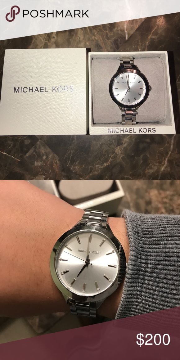 Michael Kors Watch Women's Silver MK Watch, never used. Perfect condition! Michael Kors Accessories Watches #watches #watch #USA