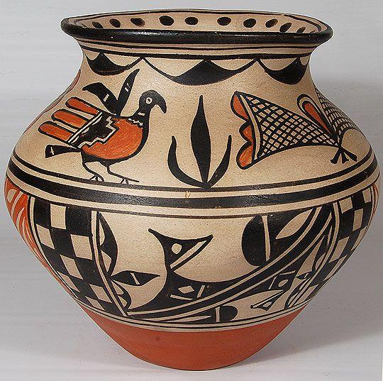 Kewa pueblo pottery