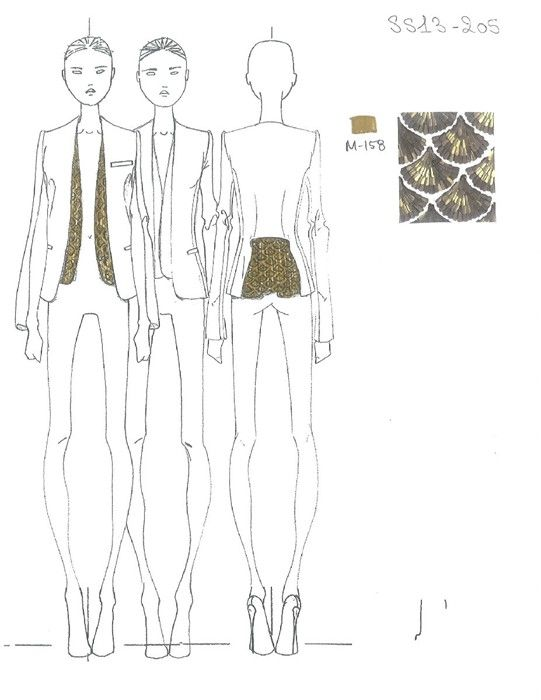 Exclusive design sketch: Altuzarra Womenswear SS13