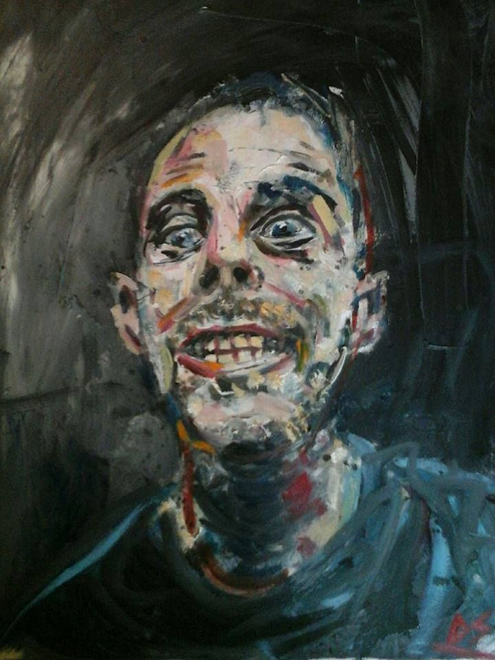 """Self Portrait. """"They are not all beautiful"""" Oil on canvas. Price 380 euros"""