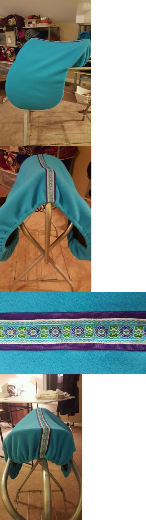 Saddle Covers 179000: English Saddle Cover- Turquoise With Pretty Ribbon Trim- Handmade -> BUY IT NOW ONLY: $30 on eBay!