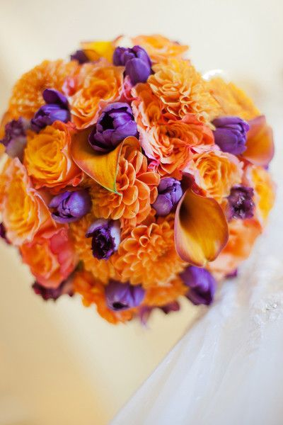 Orange Wedding Flowers on WeddingWire
