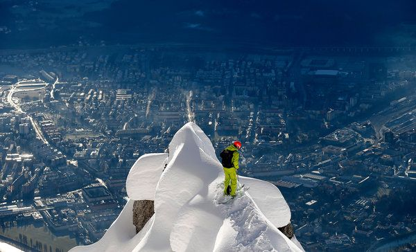 Innsbruck, Austria, as seen from Seegrube Mountain (NYTimes.com)