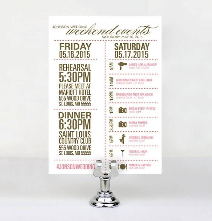 Wedding Itinerary What To Include In Your Wedding Day Itinerary