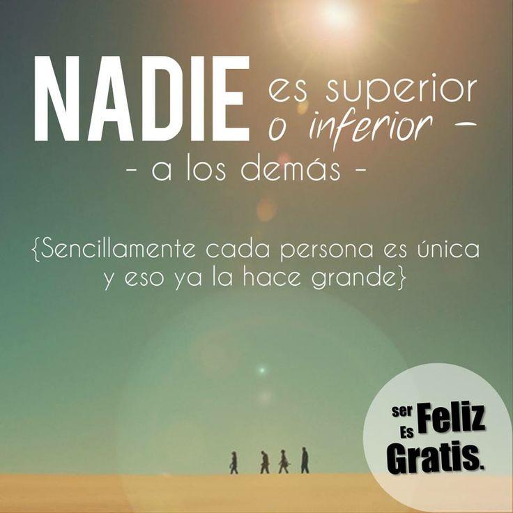 Ser feliz es gratis.