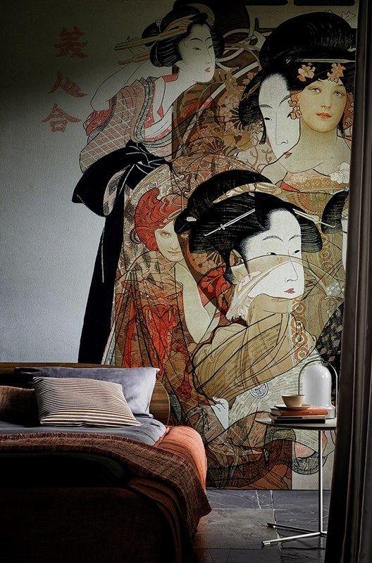 Collezione 2016 carte da parati Wall&Decò, soggetto Nouveau Geisha - www.designlover.it