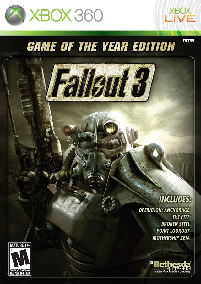 """Fallout 3 """"Game of the Year Edition"""" - Xbox 360 (CIB)"""