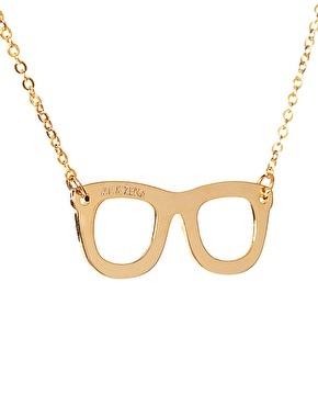 Enlarge Me & Zena Geek Glasses Necklace