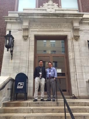 Hung D. Do, DDS. PhD and his colleague Tuan A. Bui, DDS at Havard University Dental School and Hospital.