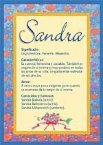 Sandra - Nombres, El significado de los nombres, Tu nombre, Tarjetas postales TuParada.com