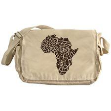 Africa in a giraffe camouflage Messenger Bag