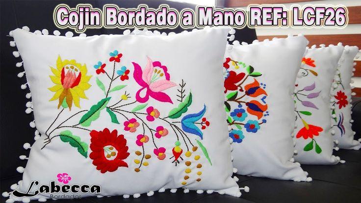 COJIN DECORATIVO Bordado a Mano by Labecca Bordados | Colección No6