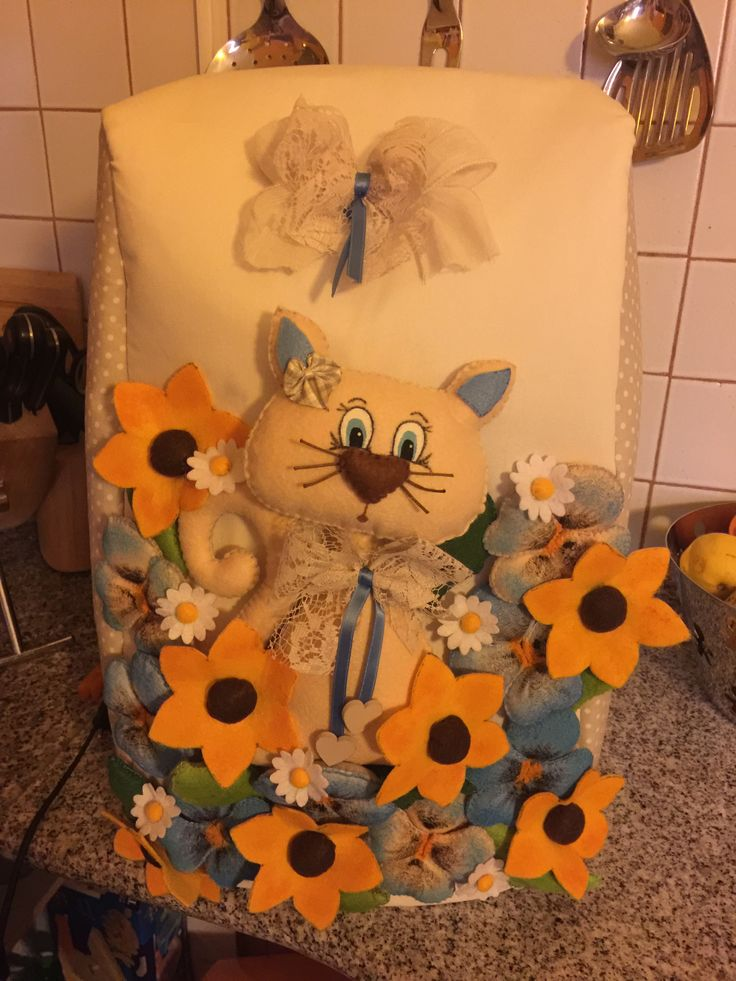 copribimby decorato #copribimby #pannolenci #gatto