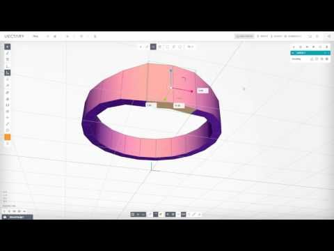VECTARY | 3D Modeling Tutorial | Ring with dimensions (beta 1.2.6) - YouTube