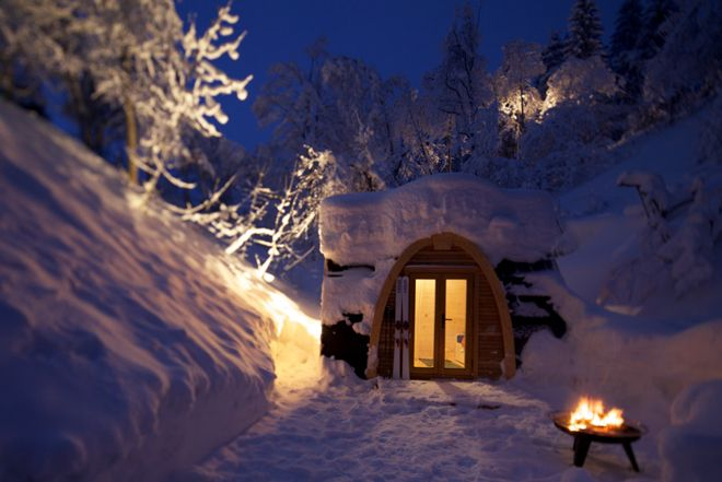 Weekend Cabin: The Pod House was designed for Swiss winter camping...rent one or buy one... http://www.adventure-journal.com/2013/12/weekend-cabin-pod-house-flims-switzerland/