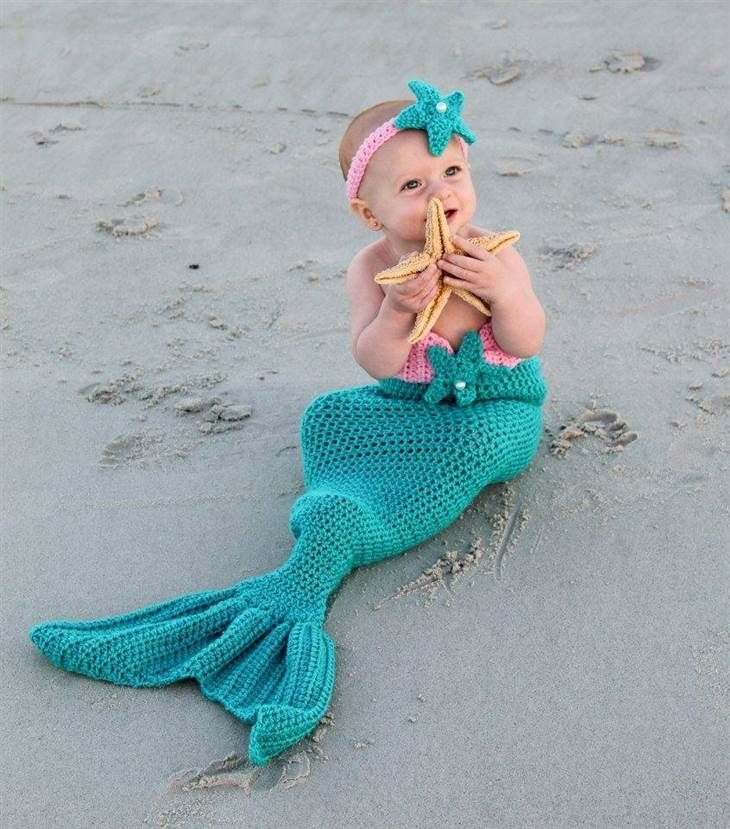 halloween costumes for babies these tots are frightfully adorable - Baby Mermaid Halloween Costume