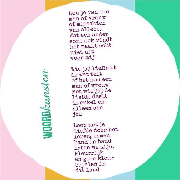 Geen kleur bepalen maar kleurrijk zijn. #woordkunsten #delenmag #lgbt #gaypride…