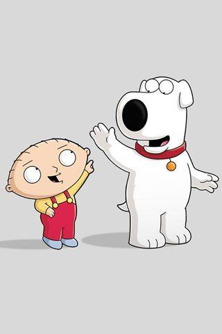 Fondo de Pantalla de Stewie y Brian para iPhone #brian #stewie #dibujos #padredefamilia #iphone