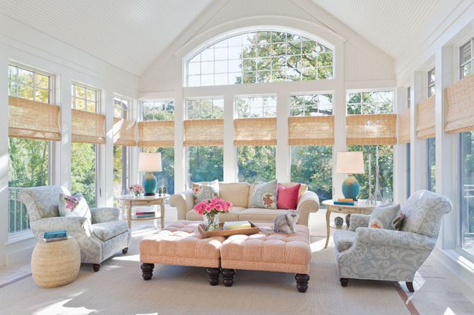 sun room: Decor, Interior Design, Idea, Living Rooms, Window, Livingroom, House, Sun Room, Sunroom