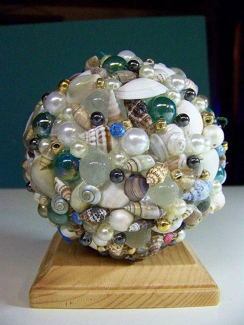 Made with styrofoam ball and hot glue gun