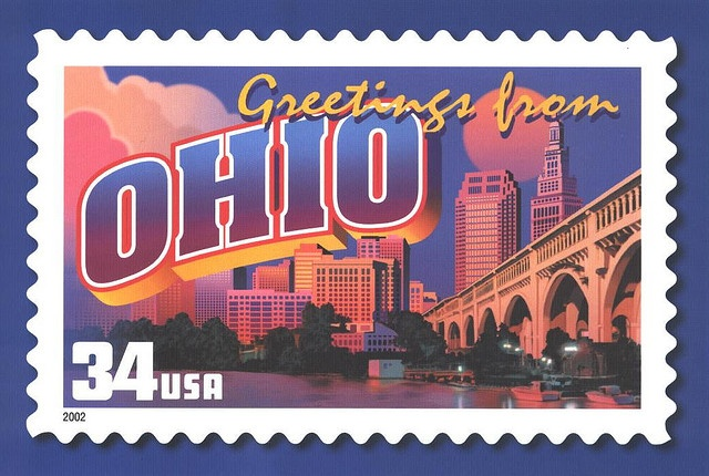Greetings from America Ohio Usa stamps, Commemorative