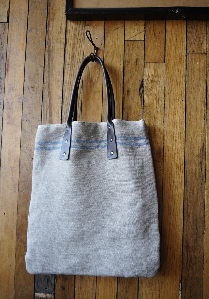 linen tote from paris
