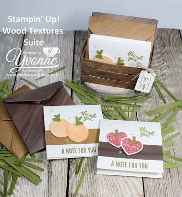Yvonne Stampin '& Scrapping: Stampin' Up! Wood Textures Suite, Wood Words, Wood Crate Framelits #stampingsunday #stampinup