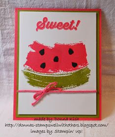 Watermelon Card with the Work of Art stamp set