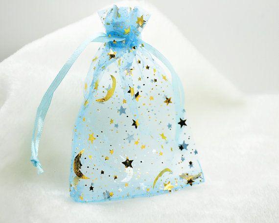 100 organza gift bags 34 moon and stars Christmas by nicestreetDIY, $5.99