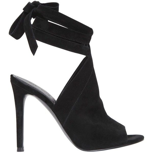 Kendall+kylie Women 105mm Evelyn Suede Wrap Around Sandals ($210) ❤ liked on