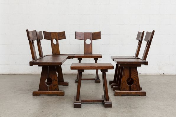 Pierre Chapo Inspired Corner Seating Unit Corner Seating Seating Single Chair