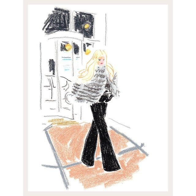 Couldn't be more honored to be illustrated at NYFW by the insanely talented Damien Cuypers for @tmagazine