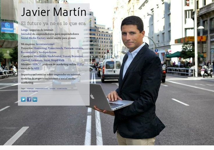 Javier Martín's page on about.me – http://about.me/loogic