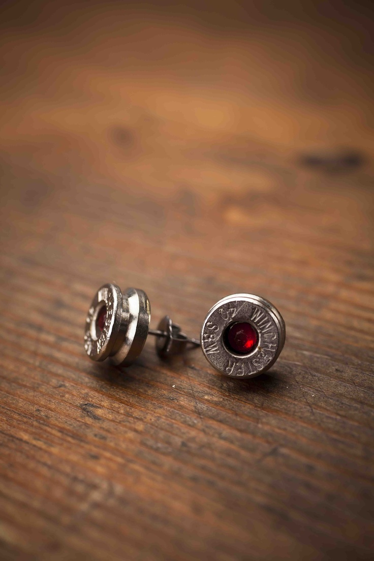 Bullet Earrings Red, from Bourbon and Boots