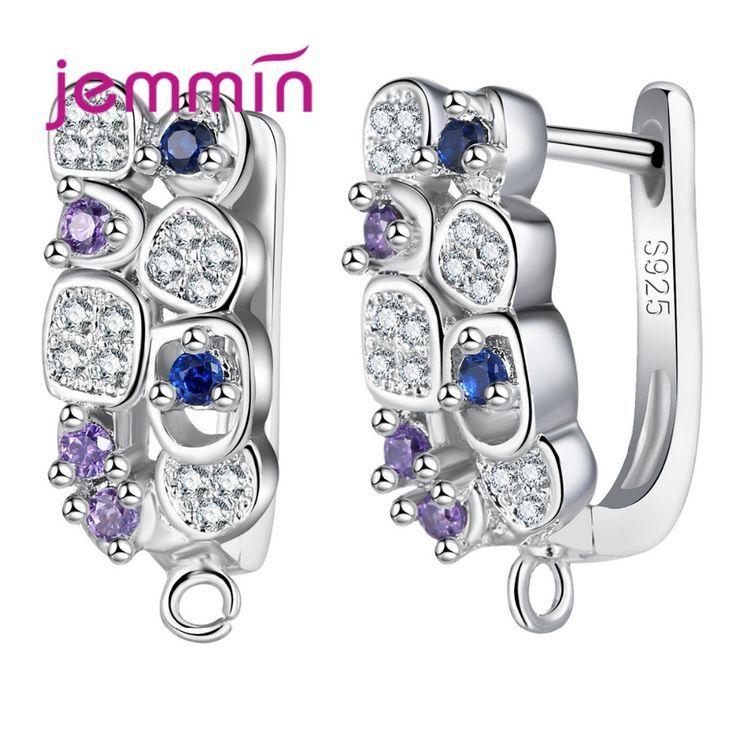 Jemmin Mode Elegant Große DiY Creolen für Frauen 925 Sterling Silber Partei Oh…