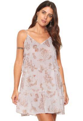 1cce57362 Vestido Colcci Curto Estampado Branco | Vestidos casuais | Dresses ...
