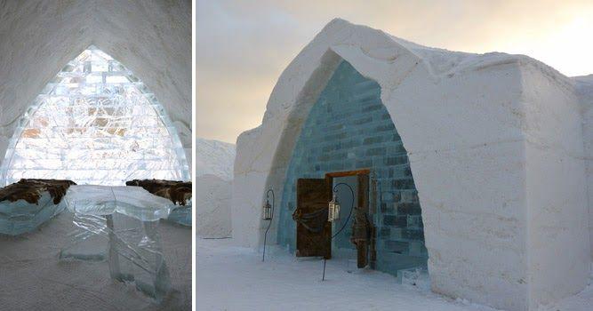 El Hôtel de Glace, ubicado en Quebec Canadá, es el único hotel de hielo en América, ¡te va a encantar! #EstudiaenelExtranjero