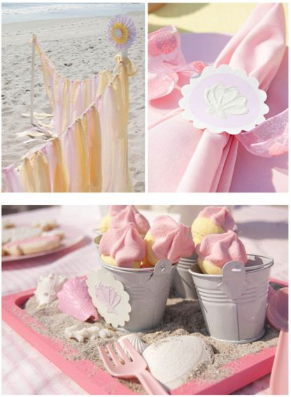 Some great ideas for a classy beach theme party party for Dekoration fur babyparty