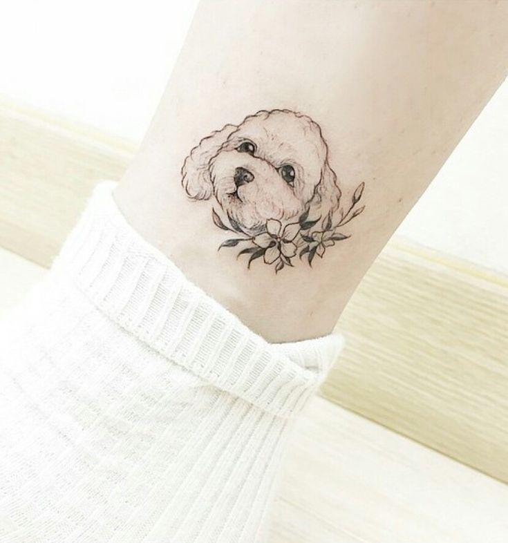 Tatuagem pet (cachorro, dog, puppy) ❤ inspiração #koreantattooist