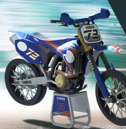 YZ450FM - | Paper Crafts(Origami) - Entertainment | YAMAHA MOTOR CO., LTD.