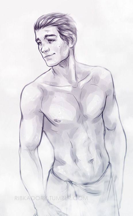 i was planning on drawing Ben in suit again, but then this happened xDBen after shower for you *U*