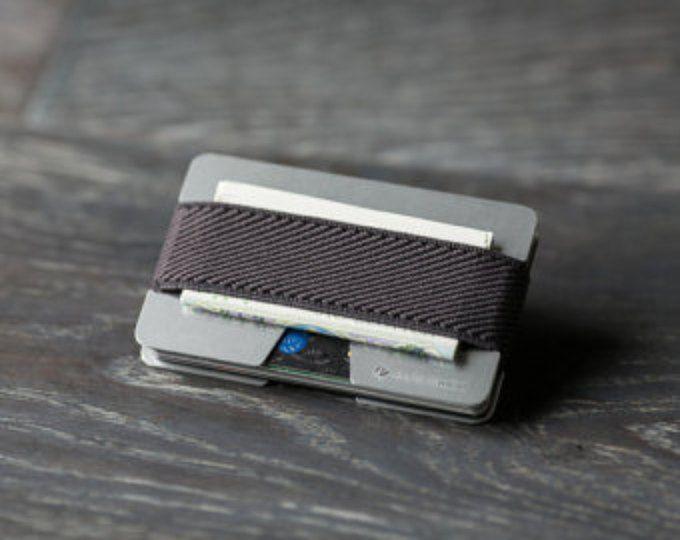 Dünne Kreditkartentasche, Geldbörse für Männer und Frauen, schlanken Aluminium-Minimalist, modernes Design Brieftasche, Geldbörse, N Portemonnaie, Geldbörse Elefant