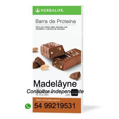 Barras de Proteína Excelente opção de lanche saudável ou para momentos de desejo por doces já que são cobertas por chocolate.