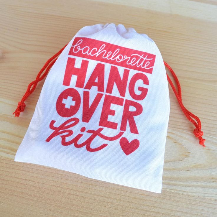 Kaspi Party has the best bachelorette hangover kits and bachelorette survival kits. This works great in a bachelorette party as a bachelorette party favor bag for your girls night out. Our hangover kit bags are the perfect size to carry in your purse. Shop now at: www.kaspiparty.com