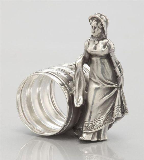 Antique Silver Napkin Ring: