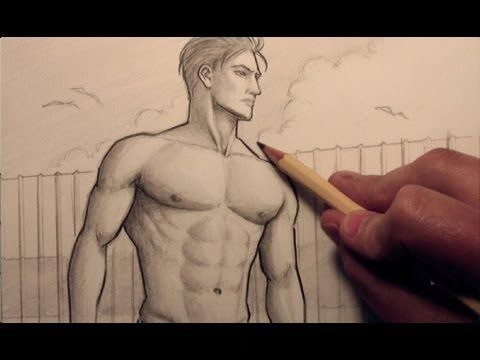 How to Draw Chest Muscles #tutorial #drawing