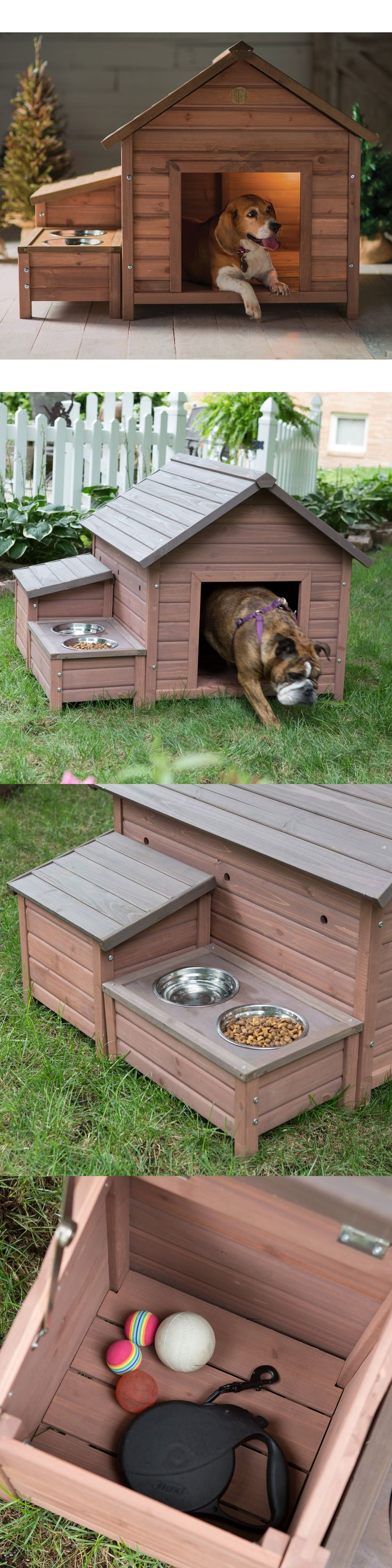 Dog Houses 108884: Dog House Wood Outdoor Home Bed Puppy Shelter Pet Kennel Wooden Sleeping Cabin -> BUY IT NOW ONLY: $161.79 on eBay!