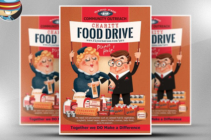 Charity Food Drive Flyer Template ✏ Graphic Templates - can food drive flyer template