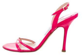 Jimmy Choo Patent Leather Neon Sandals
